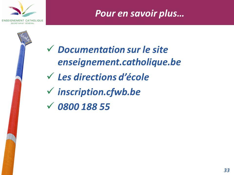 Pour en savoir plus… Documentation sur le site enseignement.catholique.be. Les directions d'école.