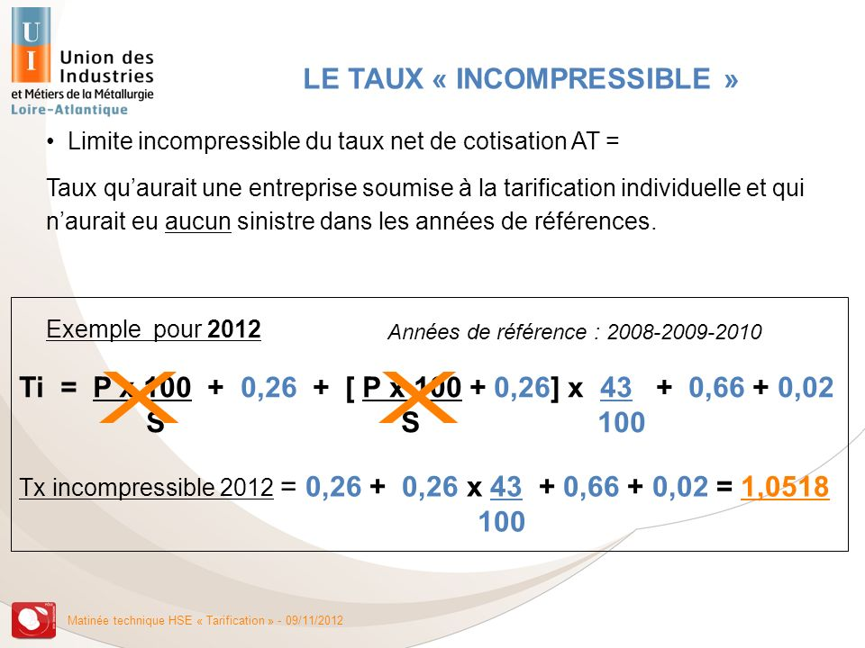 LE TAUX « INCOMPRESSIBLE »
