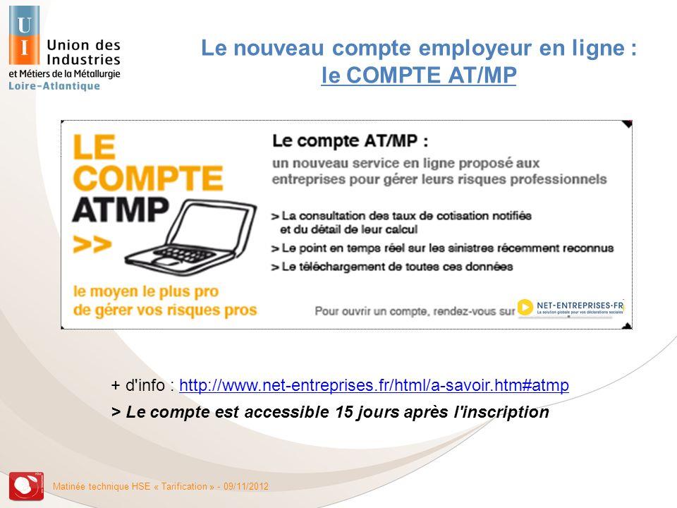 Le nouveau compte employeur en ligne : le COMPTE AT/MP