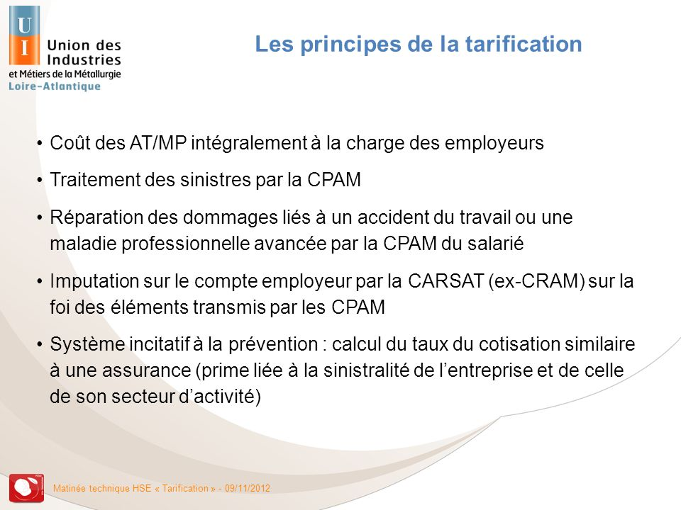 Les principes de la tarification