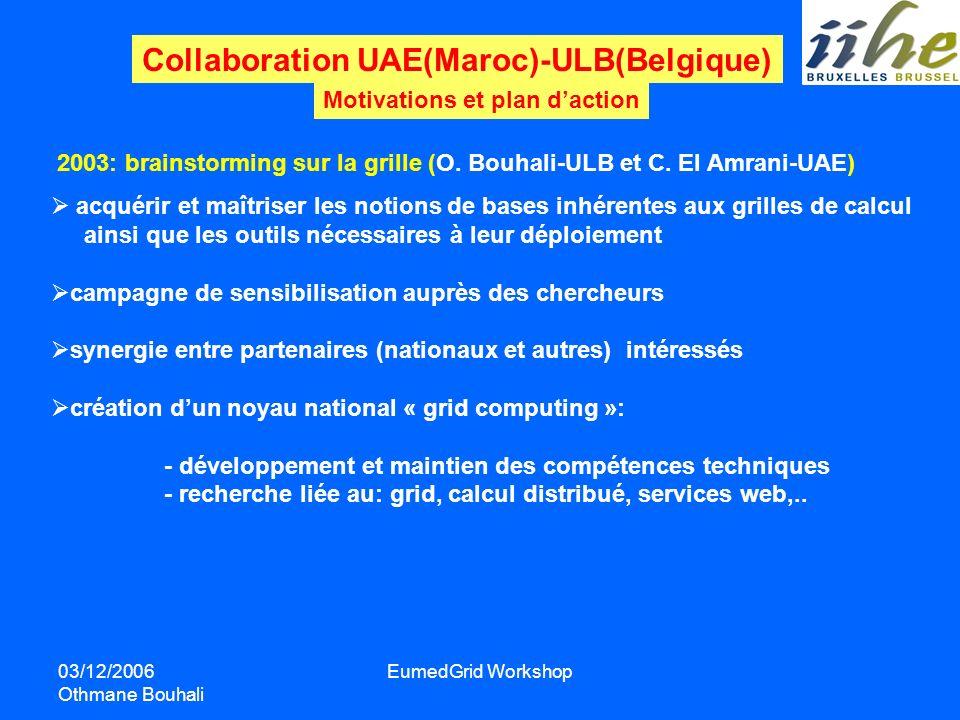 Collaboration UAE(Maroc)-ULB(Belgique)