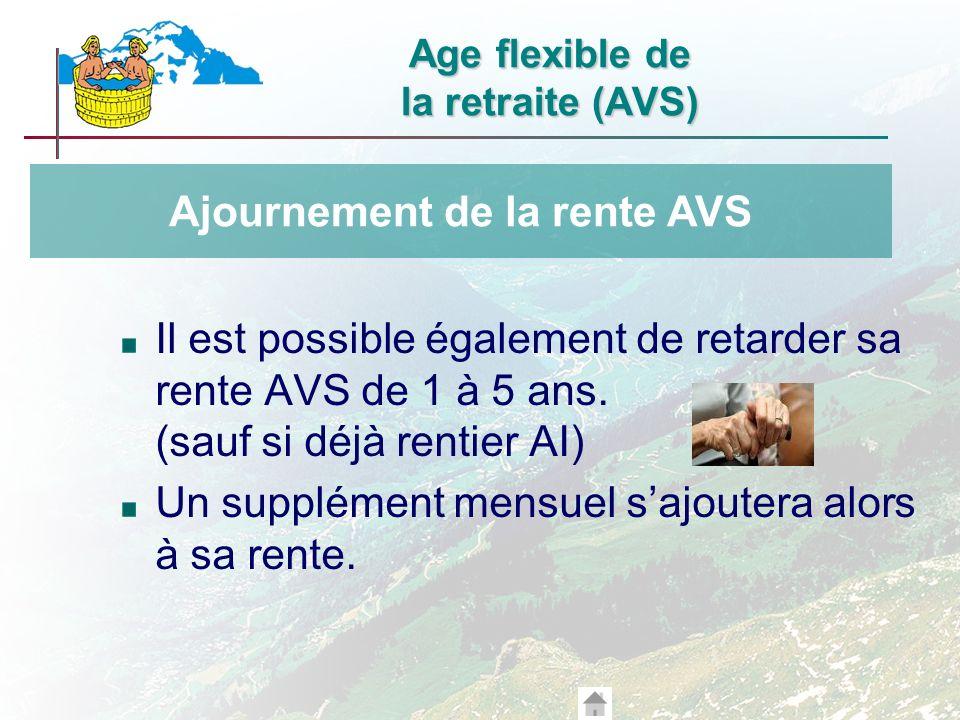 Age flexible de la retraite (AVS)