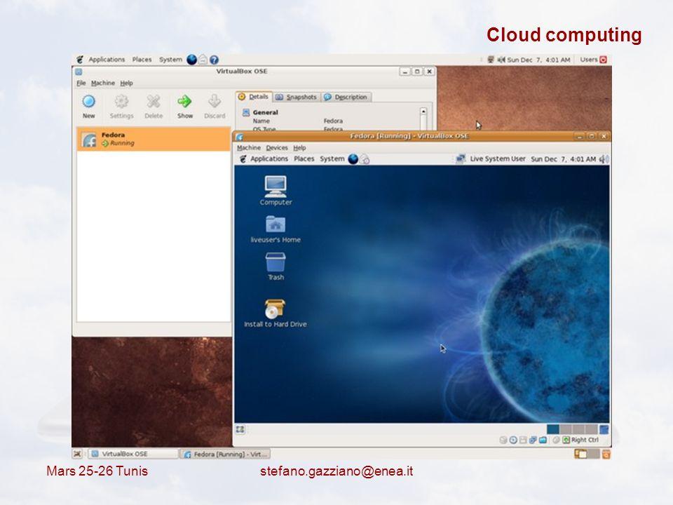 Cloud computing Mars 25-26 Tunis stefano.gazziano@enea.it