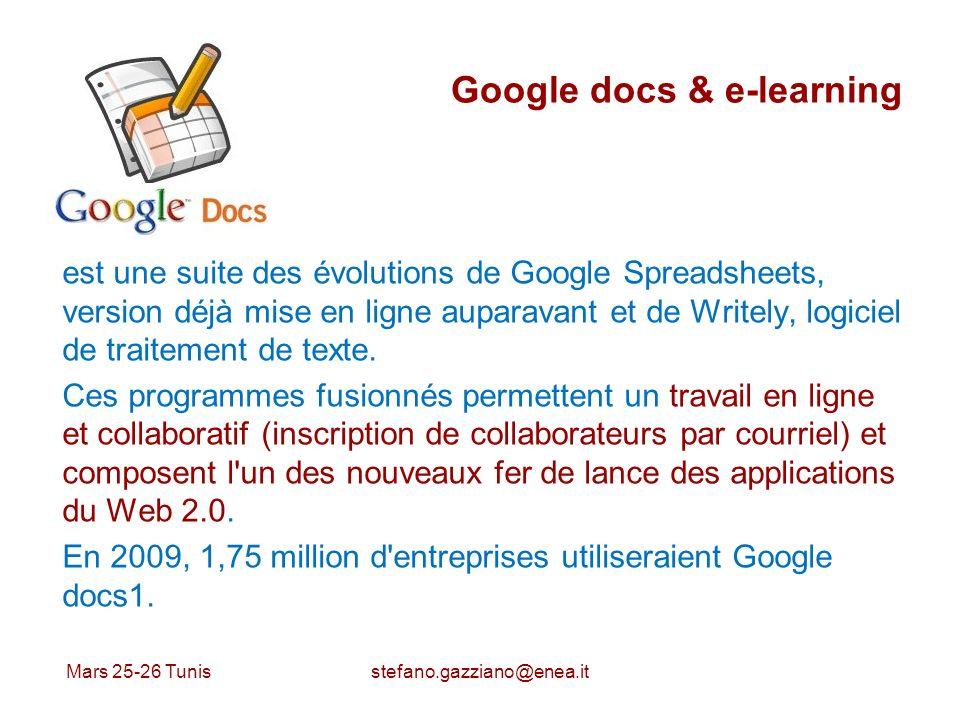 Google docs & e-learning