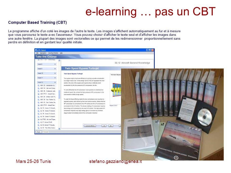 e-learning … pas un CBT Mars 25-26 Tunis stefano.gazziano@enea.it