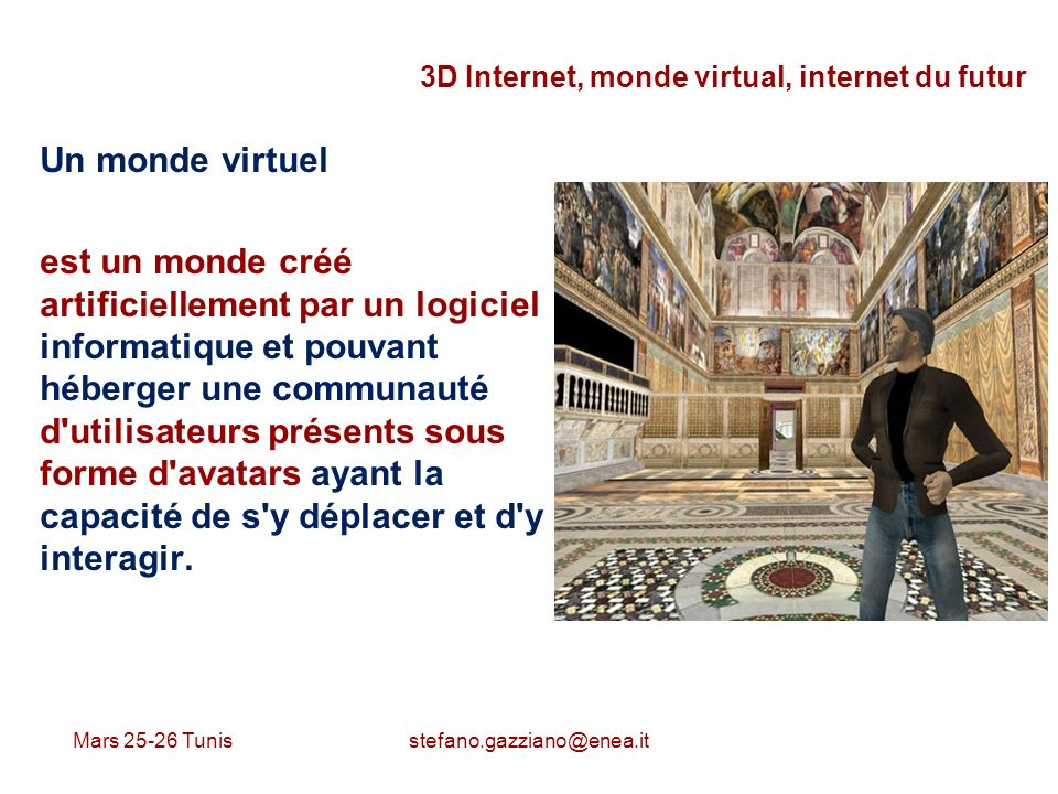 3D Internet, monde virtual, internet du futur