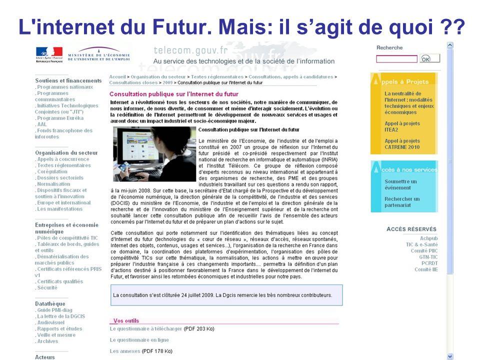 L internet du Futur. Mais: il s'agit de quoi