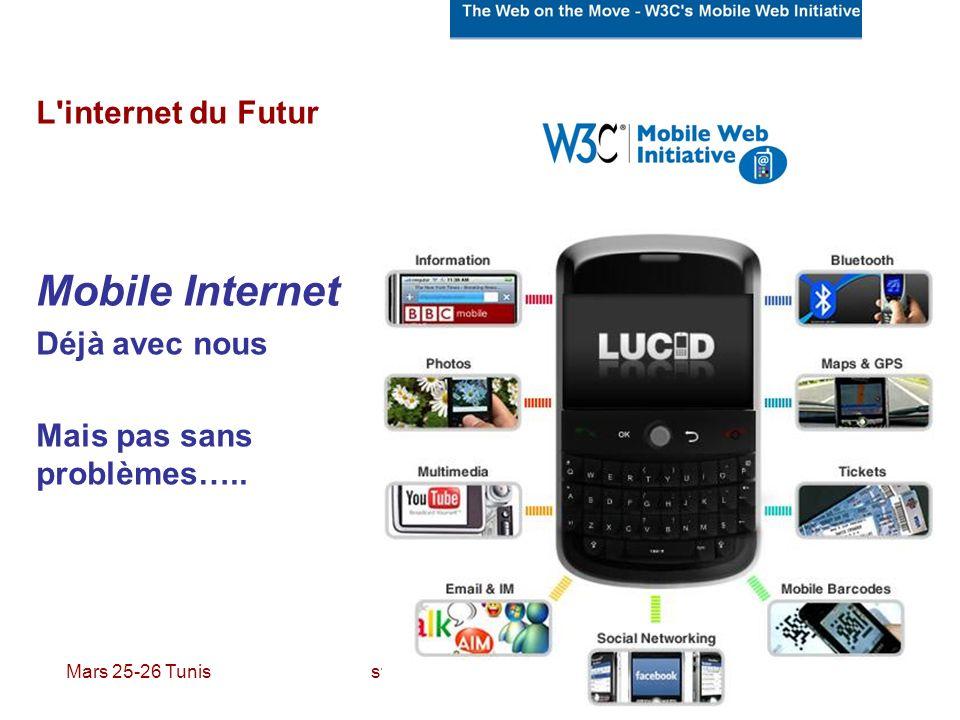 Mobile Internet L internet du Futur Déjà avec nous