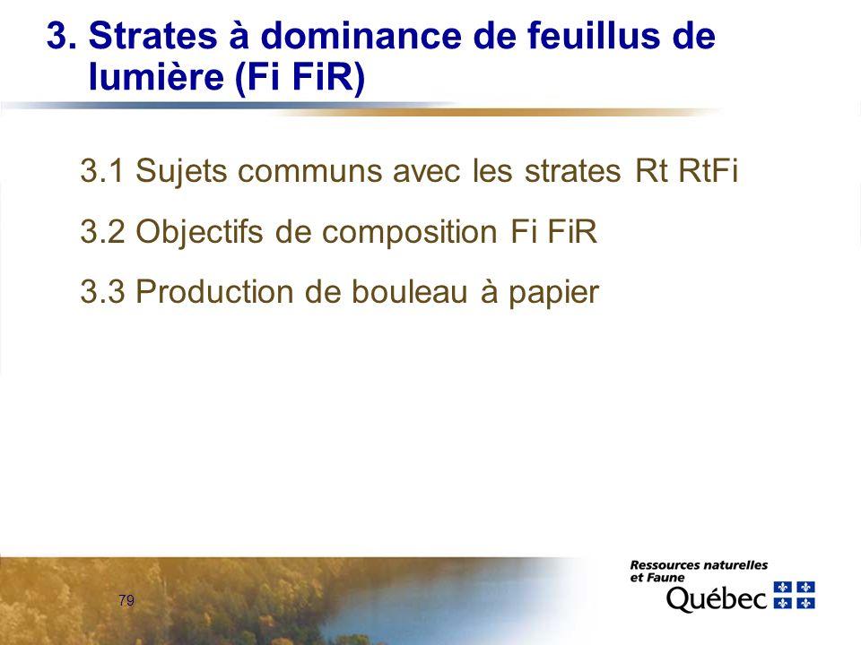 3. Strates à dominance de feuillus de lumière (Fi FiR)