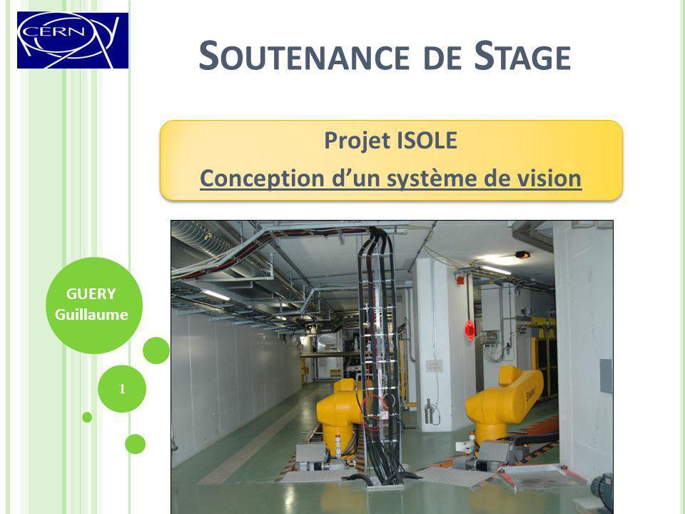 Projet ISOLE Conception d'un système de vision
