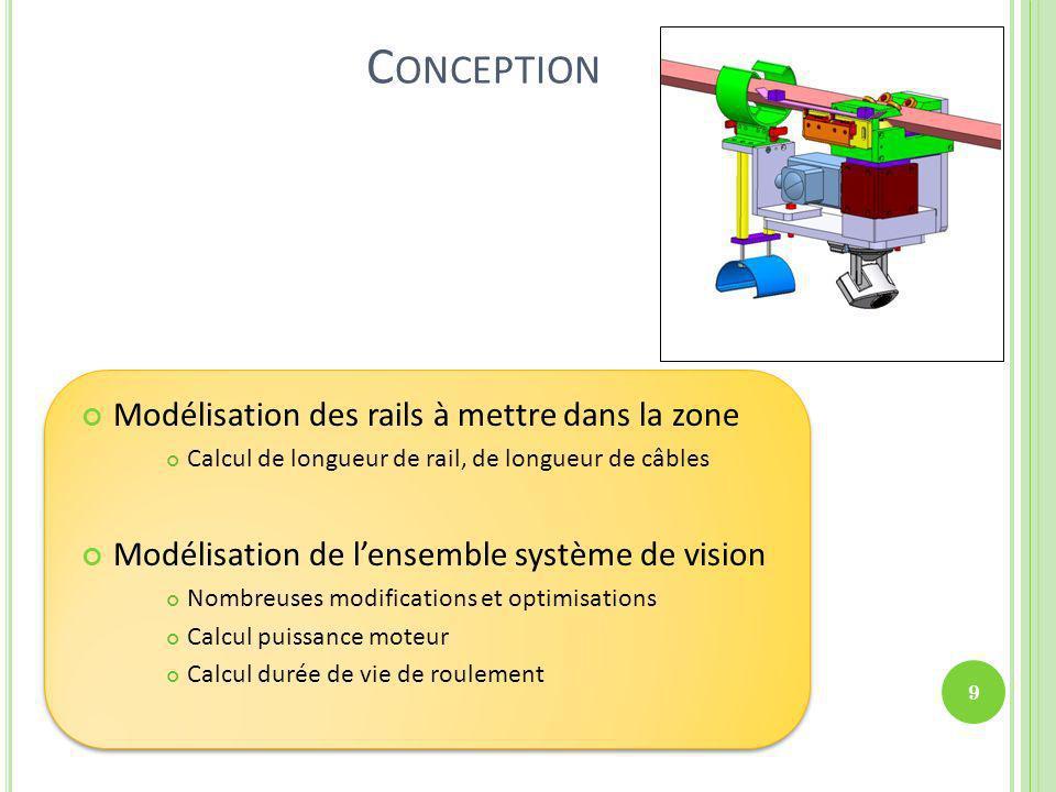 Conception Modélisation des rails à mettre dans la zone