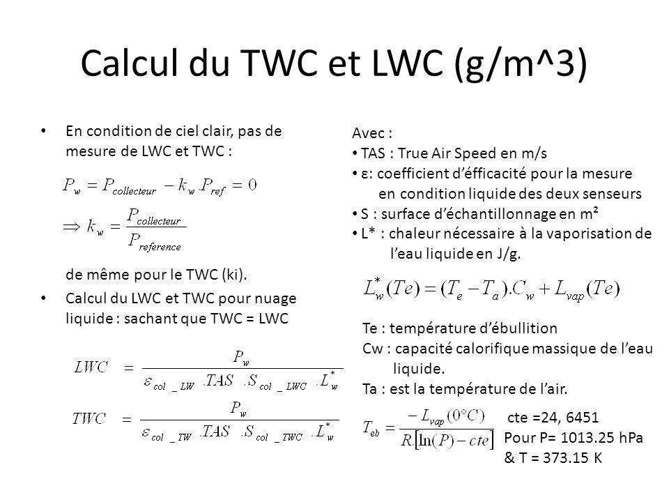 Calcul du TWC et LWC (g/m^3)