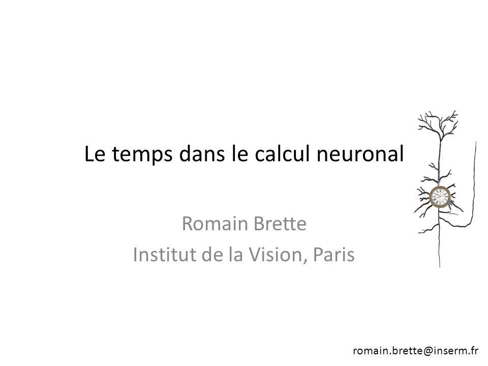 Le temps dans le calcul neuronal