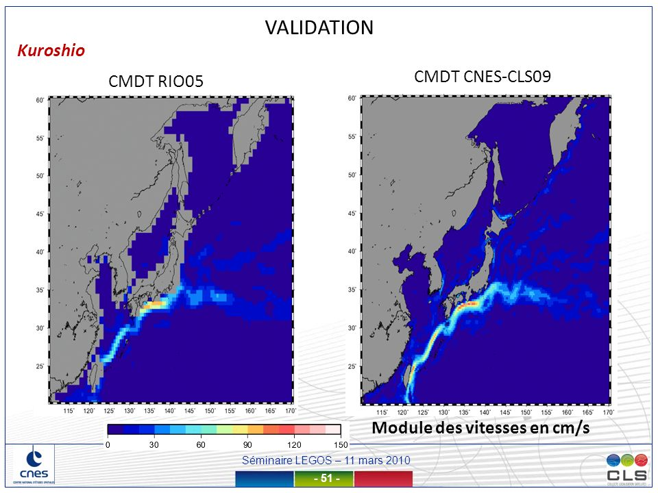 VALIDATION Kuroshio CMDT CNES-CLS09 CMDT RIO05