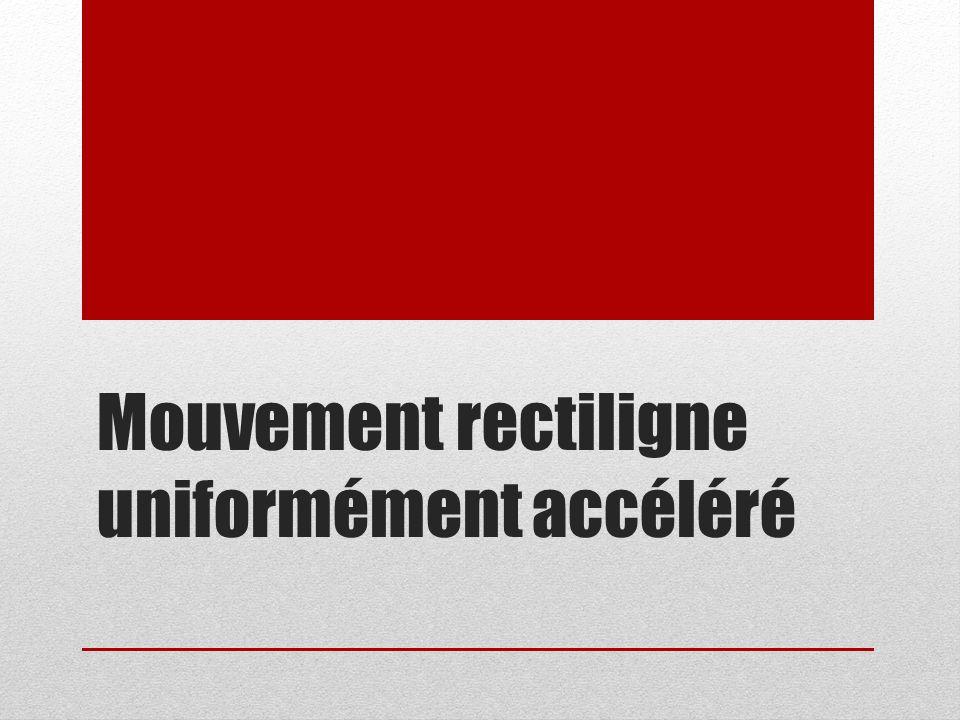 Mouvement rectiligne uniformément accéléré