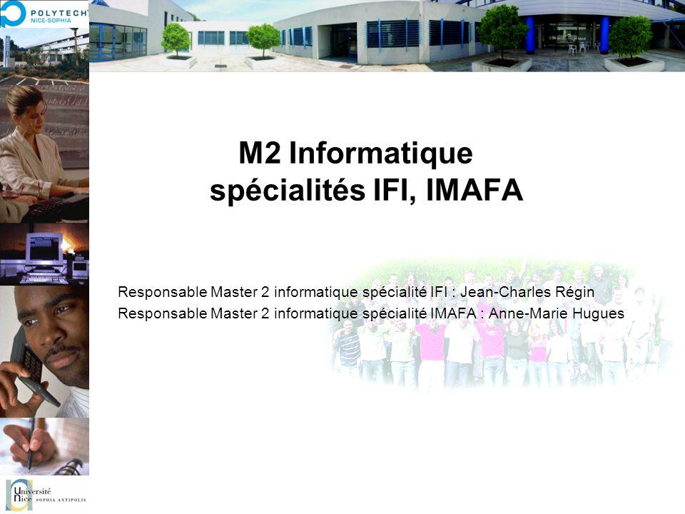 M2 Informatique spécialités IFI, IMAFA