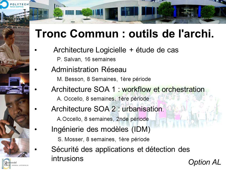 Tronc Commun : outils de l archi.