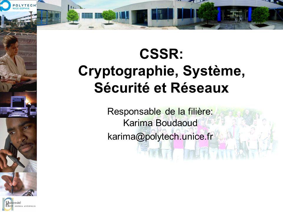 CSSR: Cryptographie, Système, Sécurité et Réseaux