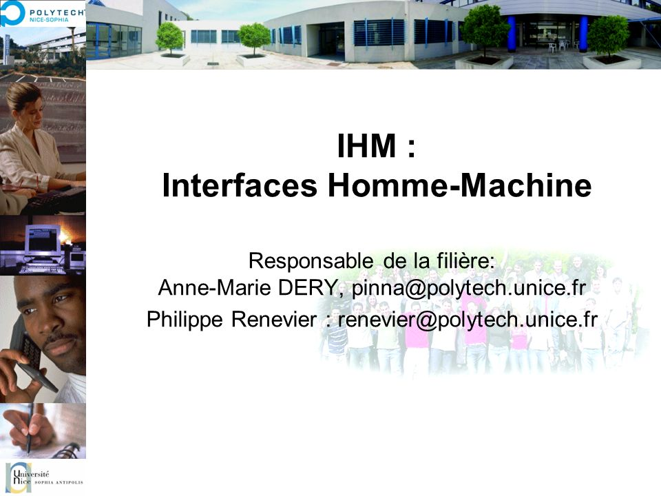 IHM : Interfaces Homme-Machine
