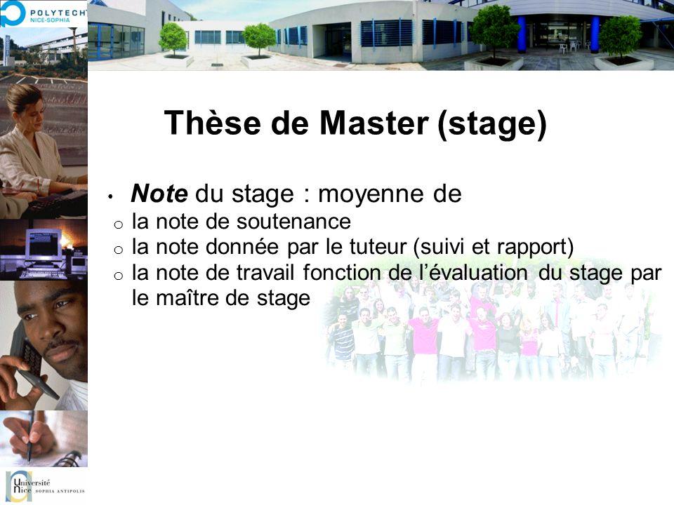 Thèse de Master (stage)