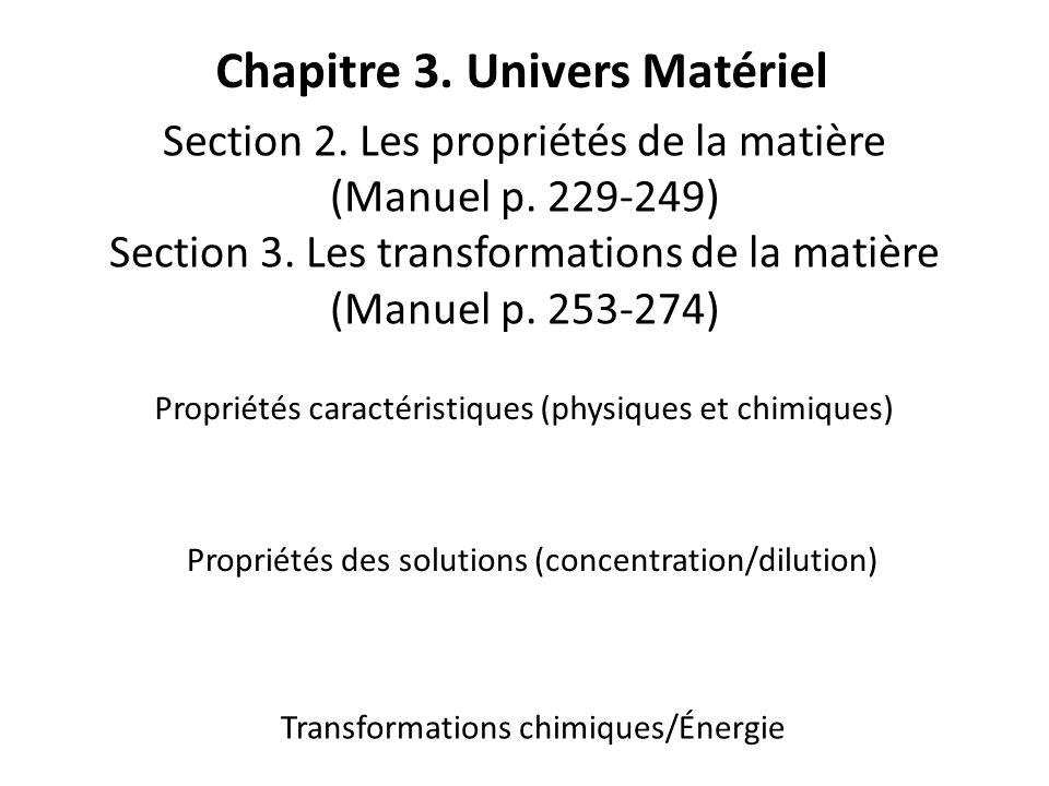 Chapitre 3. Univers Matériel