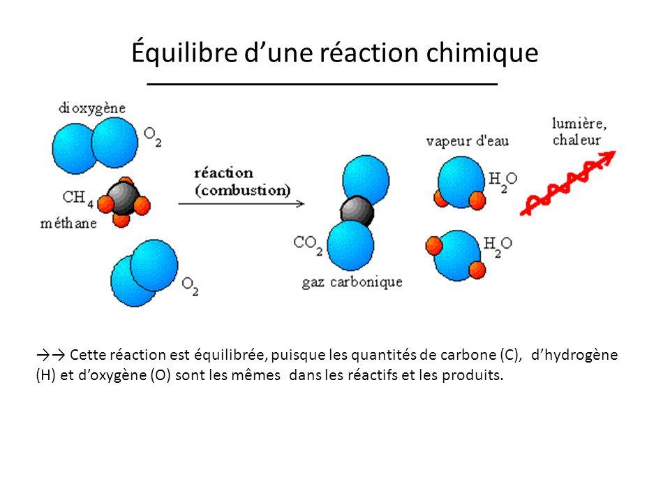 Équilibre d'une réaction chimique