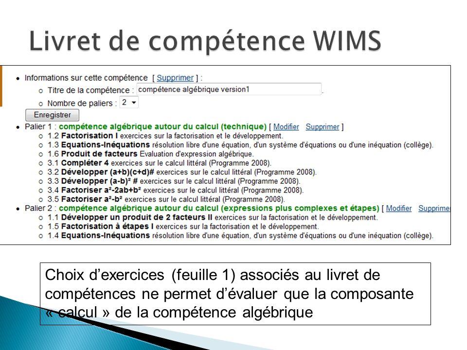 Livret de compétence WIMS
