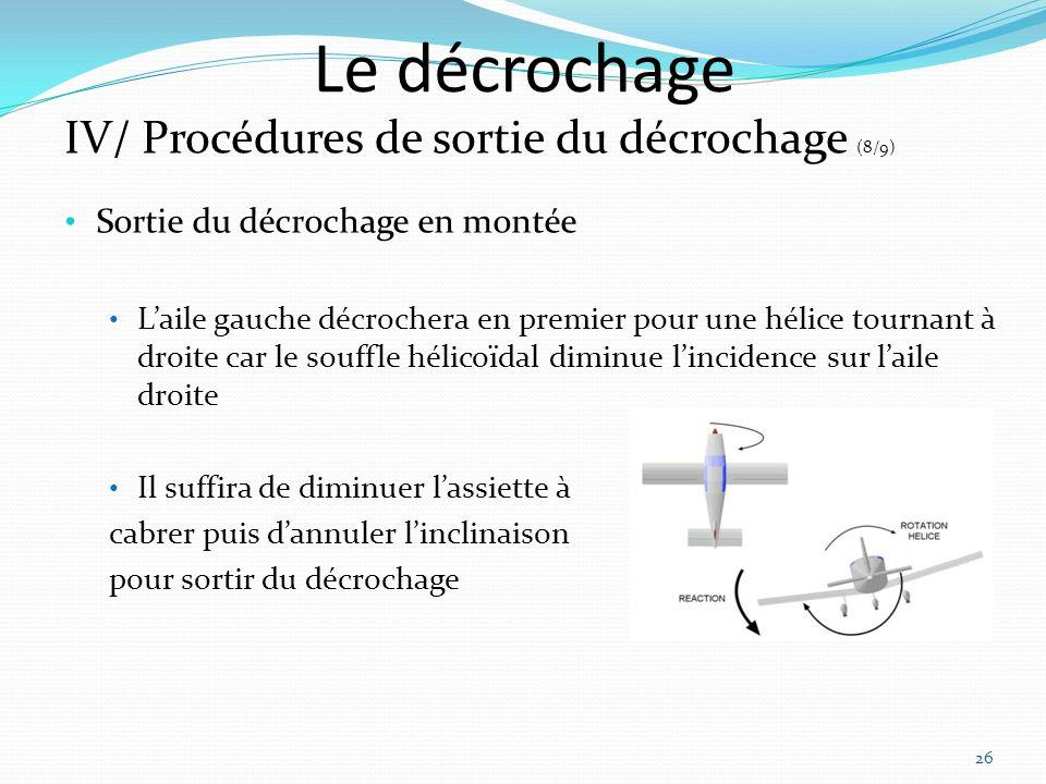 Le décrochage IV/ Procédures de sortie du décrochage (8/9)