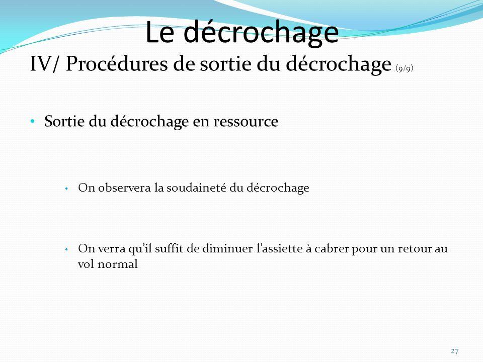Le décrochage IV/ Procédures de sortie du décrochage (9/9)