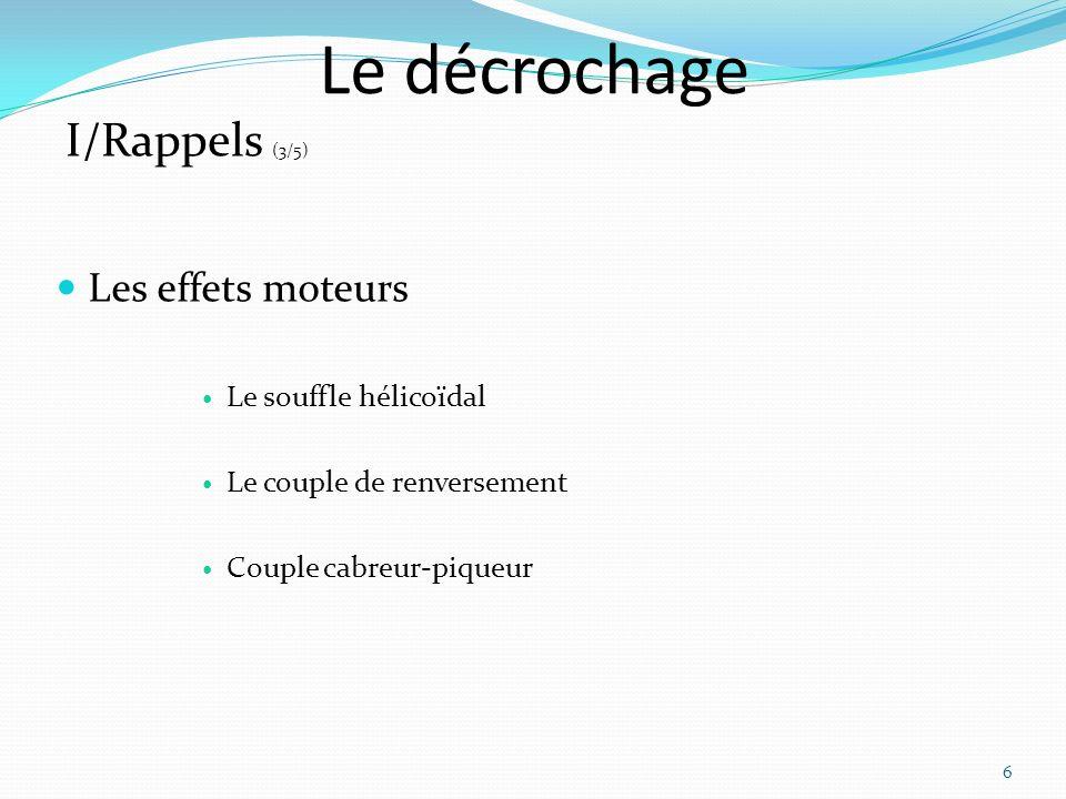 Le décrochage I/Rappels (3/5) Les effets moteurs Le souffle hélicoïdal