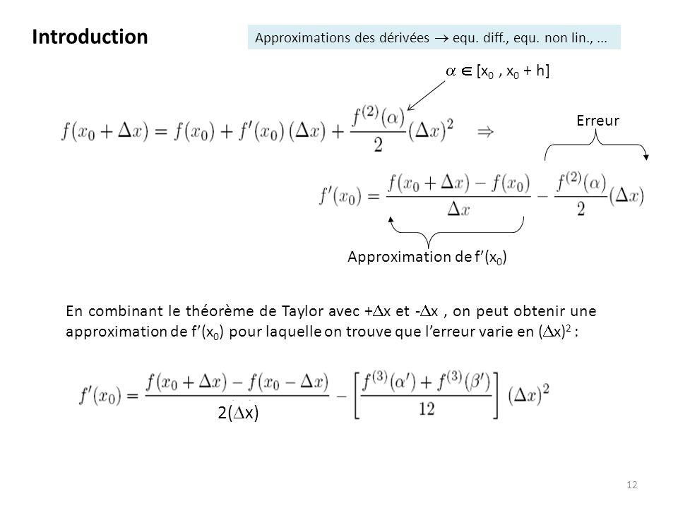 Approximation de f'(x0)