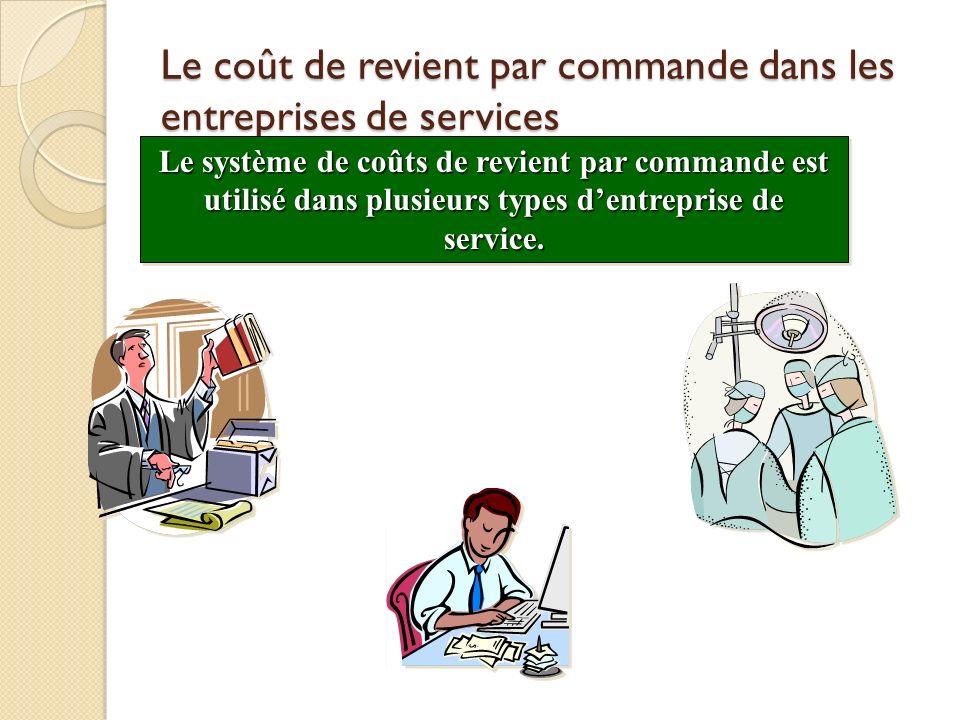 Le coût de revient par commande dans les entreprises de services