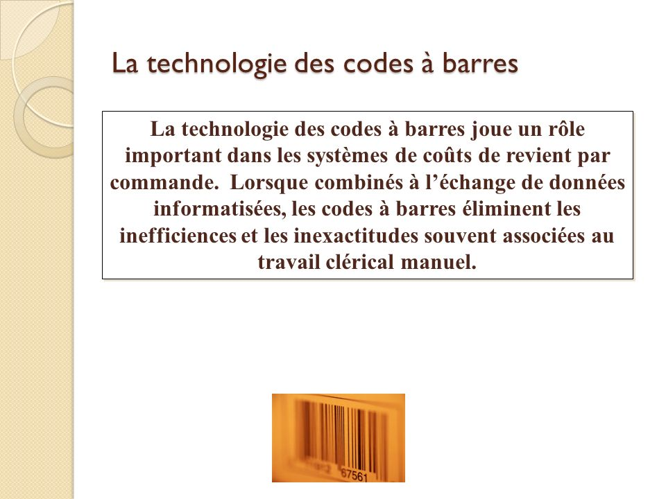 La technologie des codes à barres