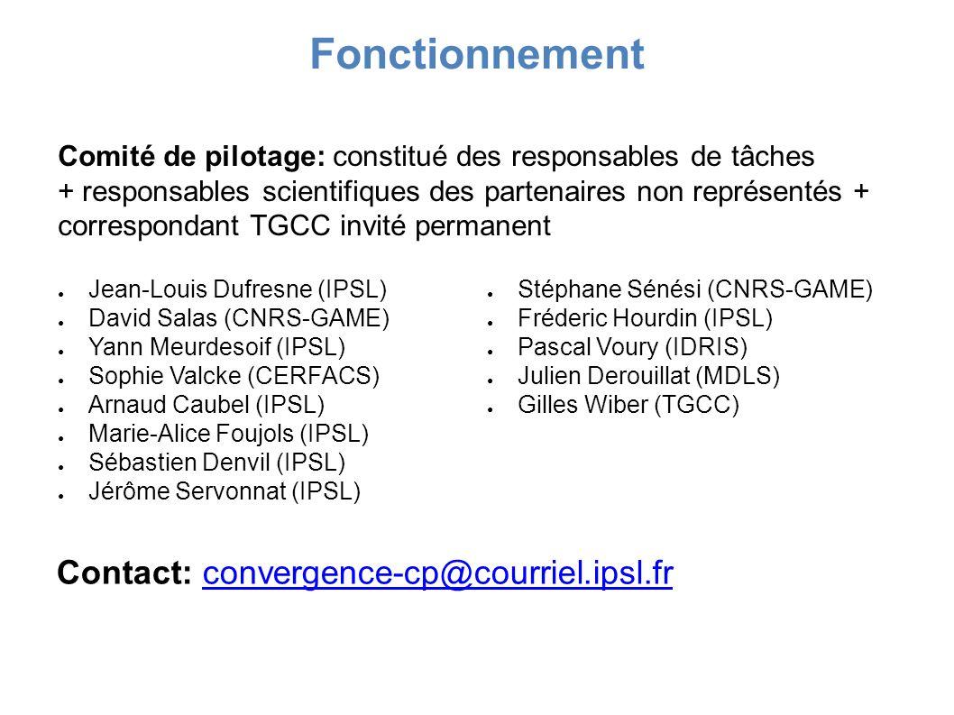 Fonctionnement Contact: convergence-cp@courriel.ipsl.fr