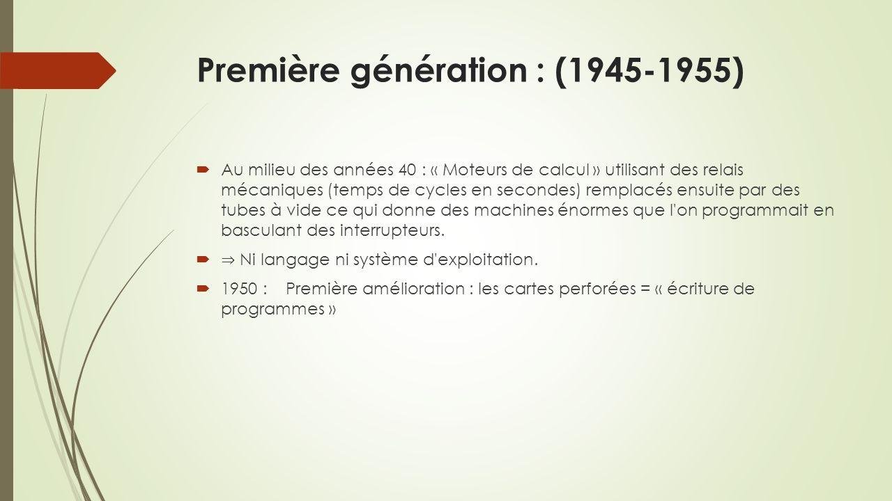 Première génération : (1945-1955)