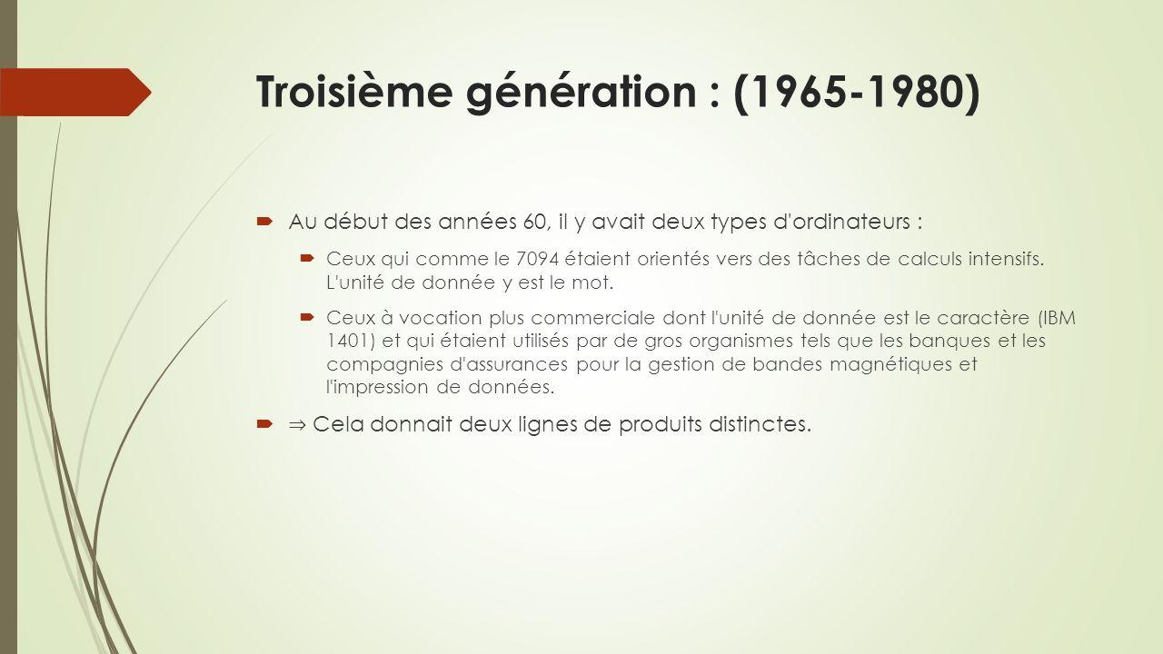 Troisième génération : (1965-1980)