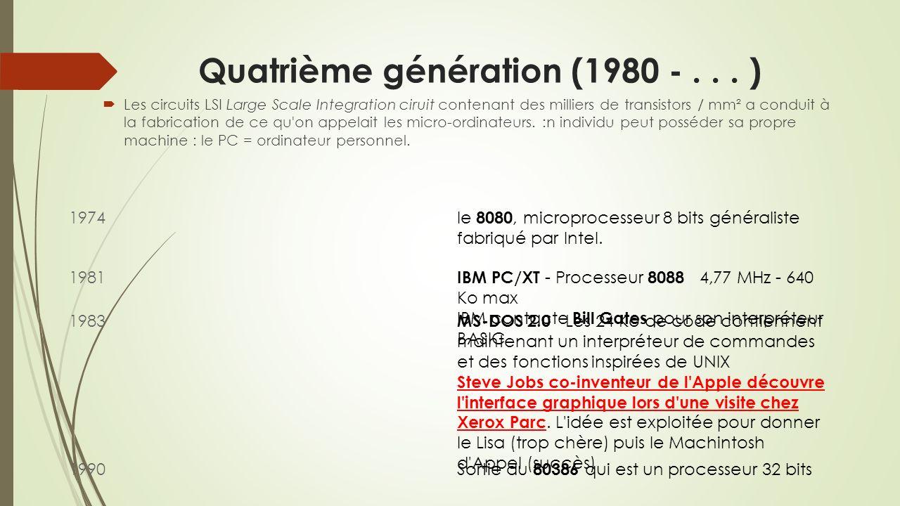 Quatrième génération (1980 - . . . )