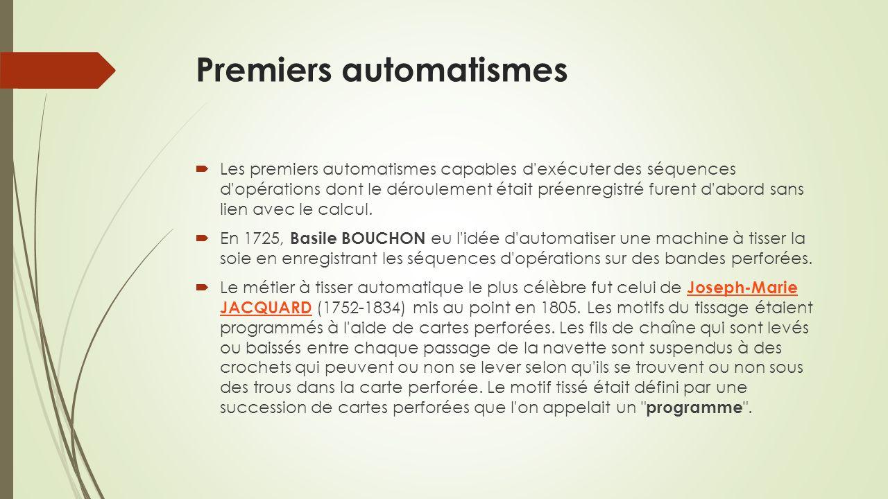 Premiers automatismes