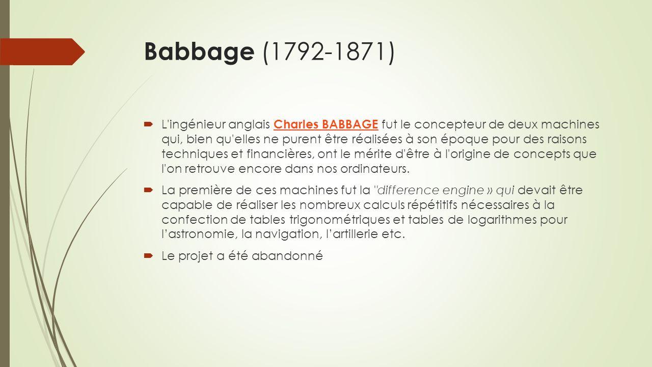 Babbage (1792-1871)