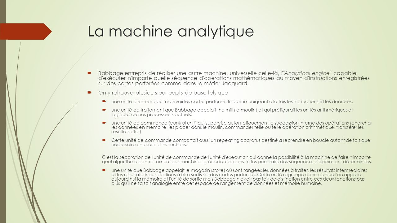 La machine analytique