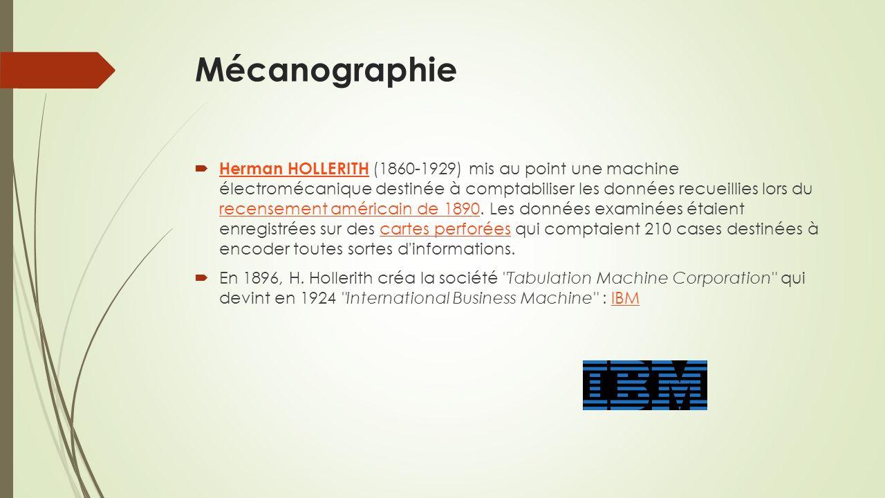 Mécanographie