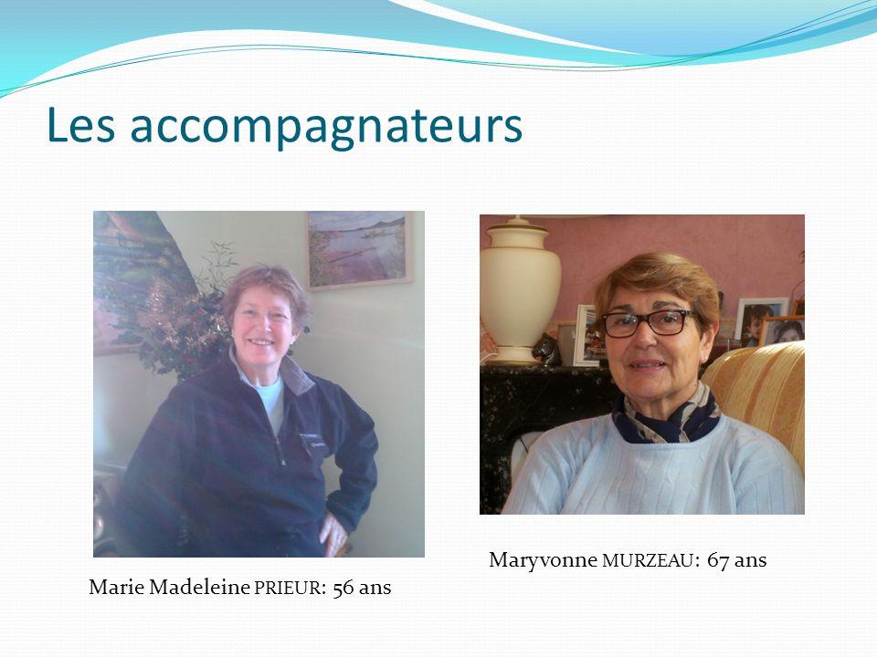 Les accompagnateurs Maryvonne MURZEAU: 67 ans