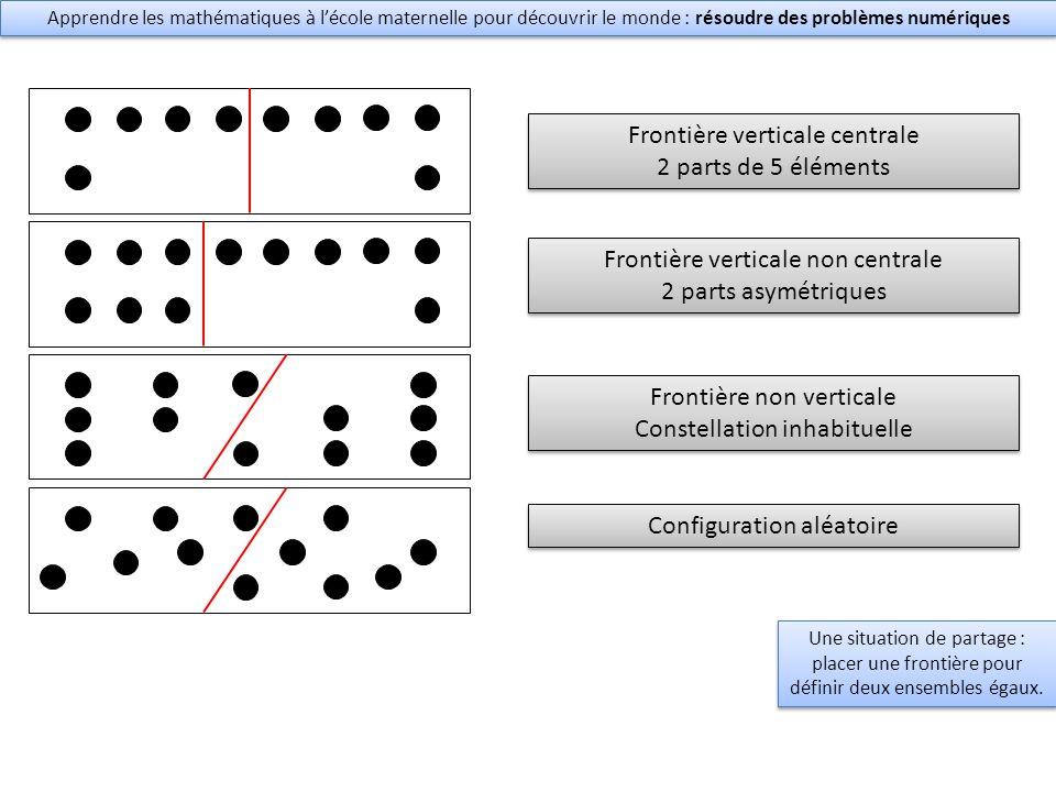 Frontière verticale centrale 2 parts de 5 éléments