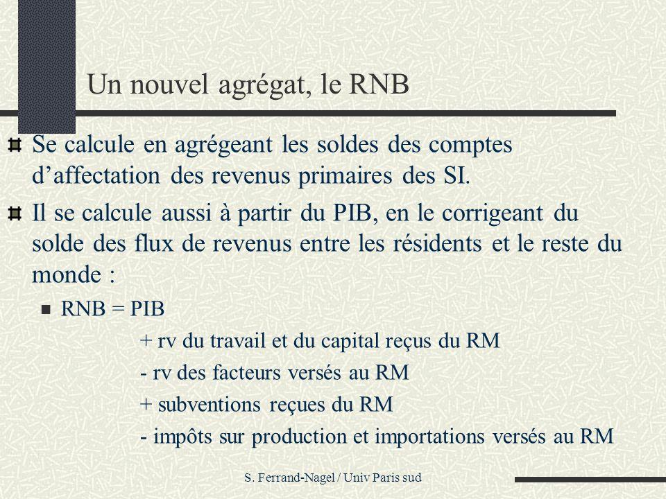 Un nouvel agrégat, le RNB