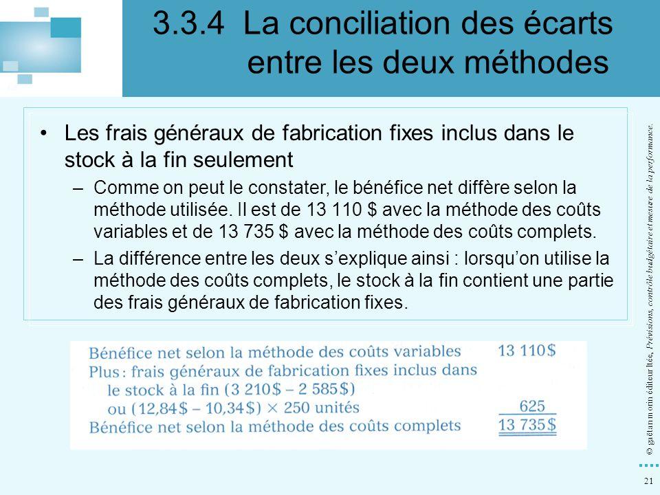 3.3.4 La conciliation des écarts entre les deux méthodes