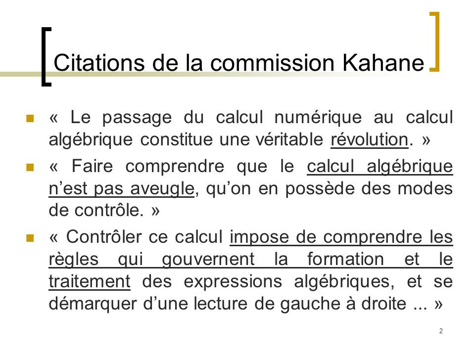 Citations de la commission Kahane