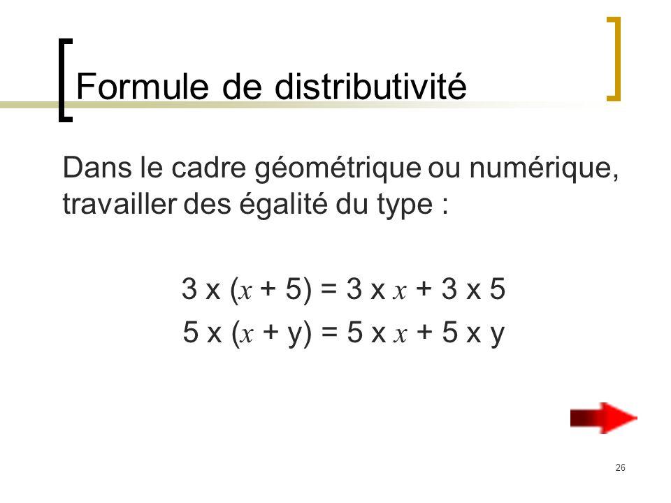 Formule de distributivité