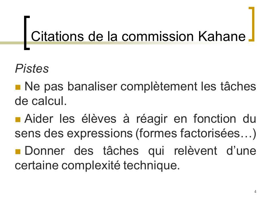 Citations de la commission Kahane