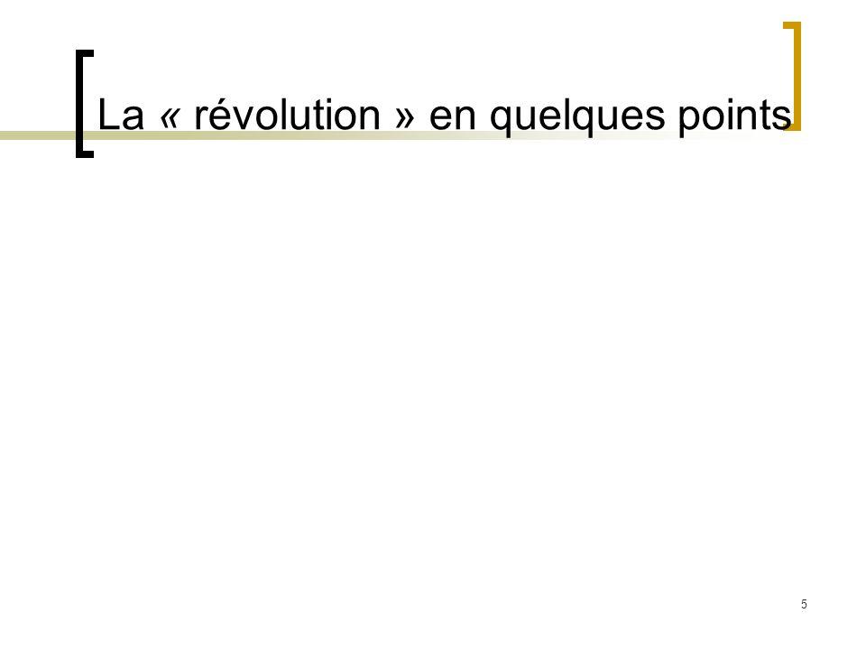 La « révolution » en quelques points
