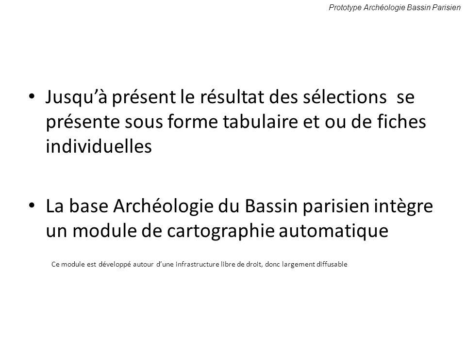Prototype Archéologie Bassin Parisien